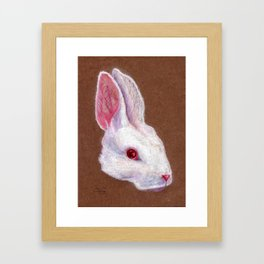 White Rabbit Framed Art Print