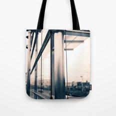 Urban train stop Tote Bag
