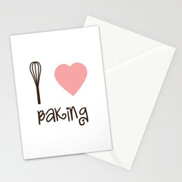 I Heart Baking Stationery Cards