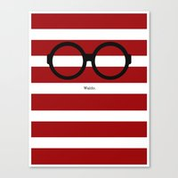 waldo Canvas Prints featuring Where's Waldo by AKilpatrickDesign