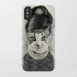 audrey cat iPhone Case
