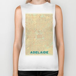 Adelaide Map Retro Biker Tank