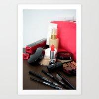 make up Art Prints featuring Make-Up by Tanya Thomas