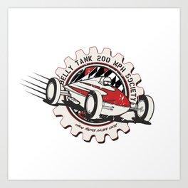 salt flats tank car Art Print