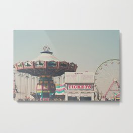 the ticket booth at the Bakersfield County Fair Metal Print