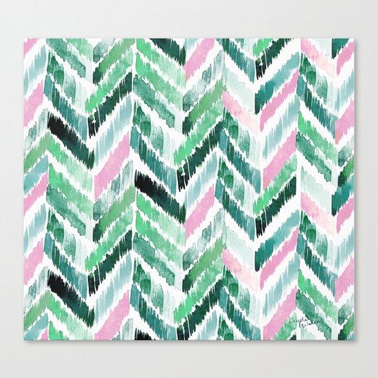 Tropical Vibrations - Emerald Pink Canvas Print