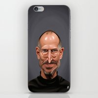 celebrity iPhone & iPod Skins featuring Celebrity Sunday ~ Steve Jobs by rob art | illustration