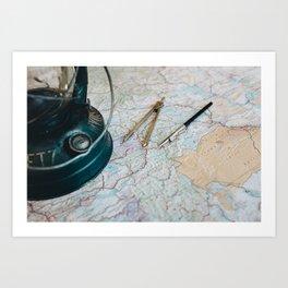 Planning an adventure Art Print