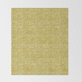 Chunky gold glitter Throw Blanket