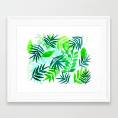 Green Palms Framed Art Print