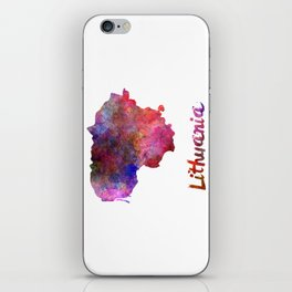 Lithuania in watercolor iPhone Skin