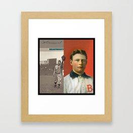 Baseball Vintage Beaumont Framed Art Print