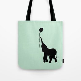 Elephant with Balloon - Mint Tote Bag