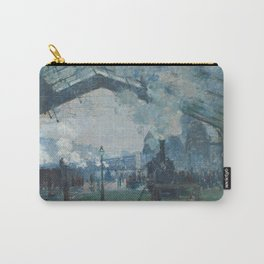 Claude Monet - Arrival of the Normandy Train Carry-All Pouch