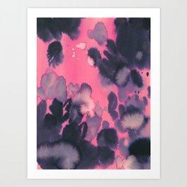 watercolor waves COLLAB DYLAN SILVA Art Print