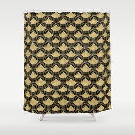 Mermaid Scales Gold Glam #1 #shiny #decor #art #society6 Shower Curtain