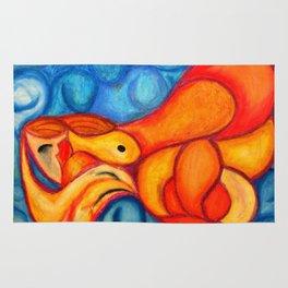 A Seeping ladle in orange & red Rug