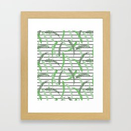 Stripes and Sprigs Framed Art Print