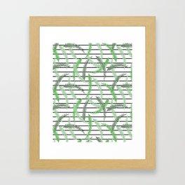 Stripes and Sprigs Framed Art Print