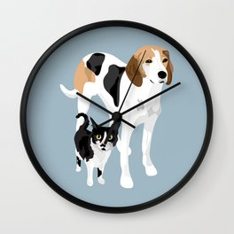 Kitten and Lulu Wall Clock