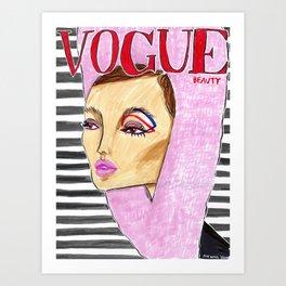 60's Beauty – Fashion Magazine Cover – Original Fashion art, Fashion Illustration, Fashion wall art Art Print