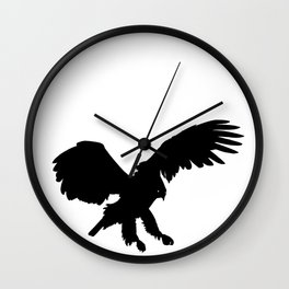 Eagle Black Silhouette Pet Animal Cool Style Wall Clock
