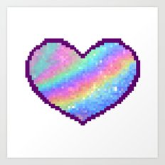 Holographic Heart Art Print