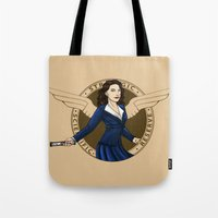 agent carter Tote Bags featuring Agent Carter by Arania
