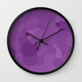 Dewberry Bubble Dot Color Accent Wall Clock