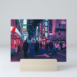 Take A Walk Under The Neon Mini Art Print