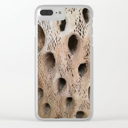 Wood - Cactus Skeleton Clear iPhone Case