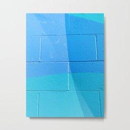 Turquoise Brick Metal Print