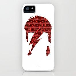 Rock art / ZS red lyrics iPhone Case