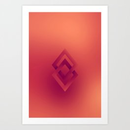 Duel Diamonds Art Print