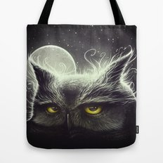 Owl & The Moon Tote Bag