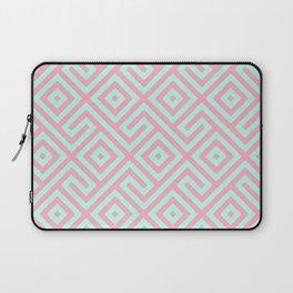 Geometrical pink teal abstract argyle diamond pattern Laptop Sleeve