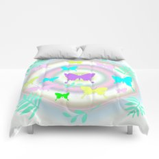 butterfly station Comforters