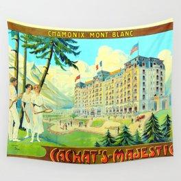 Chamonix-Mont-Blanc - Cachat's Majestic Wall Tapestry