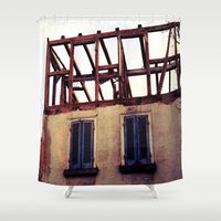 building Shower Curtains featuring Building by PerfectPixel