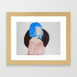 Bluedoll watercolor painting Framed Art Print
