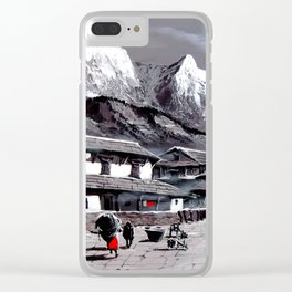 Panoramic View Of Everest Base Camp Clear iPhone Case