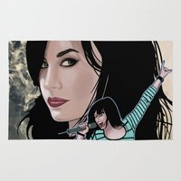 comic book Area & Throw Rugs featuring Demi Lovato - comic book cover image by Storm Media