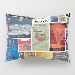 Space Travel Pillow Sham