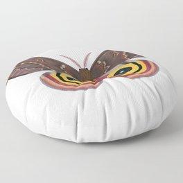 io moth (Automeris io) female specimen 2 Floor Pillow