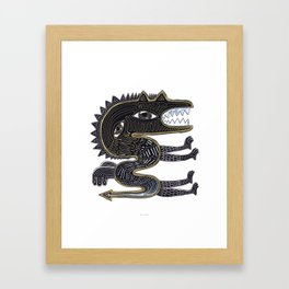 decorative surreal dragon Framed Art Print