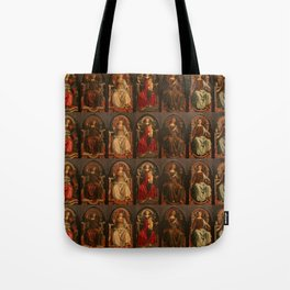 "Sandro Botticelli and Piero del Pollaiolo ""Theological and cardinal virtues"" Tote Bag"