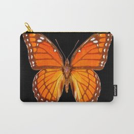 ORANGE MONARCH BUTTERFLY ON BLACK Carry-All Pouch