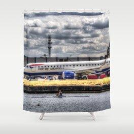 British Airways Single scull Shower Curtain