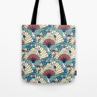 oriental Tote Bags featuring Oriental FanTasy by Paula Belle Flores