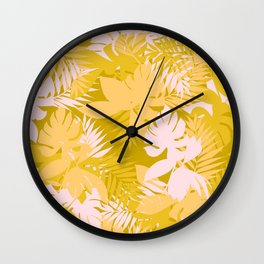 Tropical Leaves Garden Wall Clock